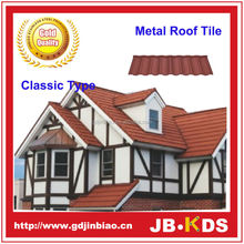 Construction building roofing material Classic type stone coated antique metal roof tiles