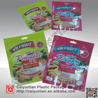 Ziplock stand up food pouches, stand up plastic nuts package bag ,three side seal dried fruit plastic package bag