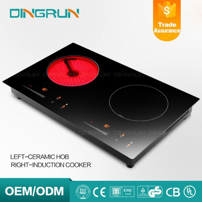 110V Induction Ceramic Cooktop Double Infrared Cooker