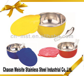 3 pcs Stainless Steel children bowl