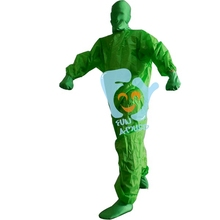 funny green full body suit inflatable mascot costume adult