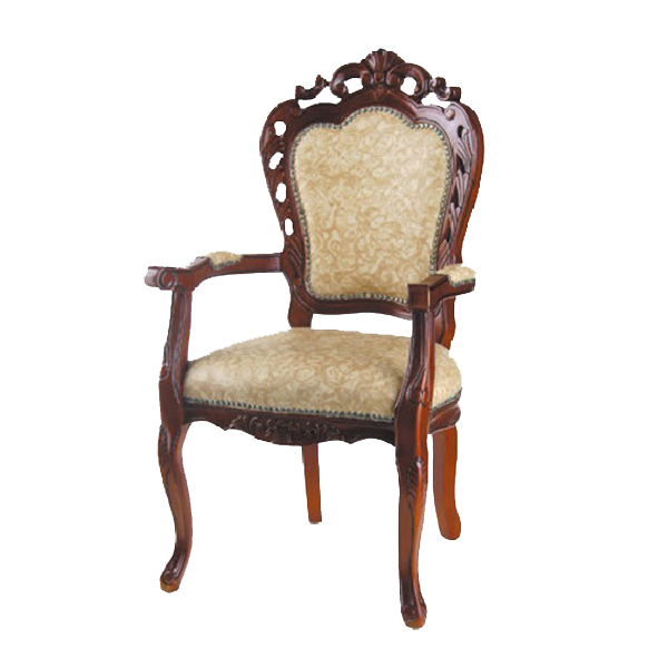 T8804 King amd Queen Throne solid wooden arm chair