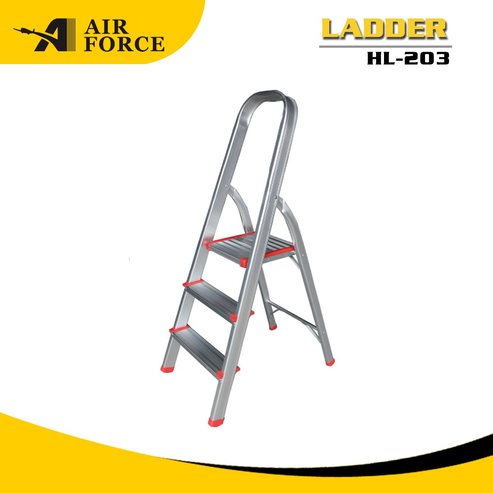 AF HL203 Home Use 3 Step Folding Ladder