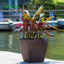 2015 hot sale square series ceramic plastic self watering system decoration leizisure flower pot