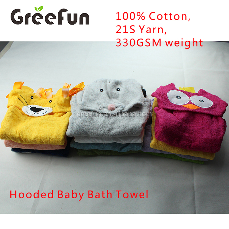 High Quality Wholesale Animal Baby Hooded Towel Bamboo , 2017 New Product Kid Shower Bathrobe Washcloth With Hood