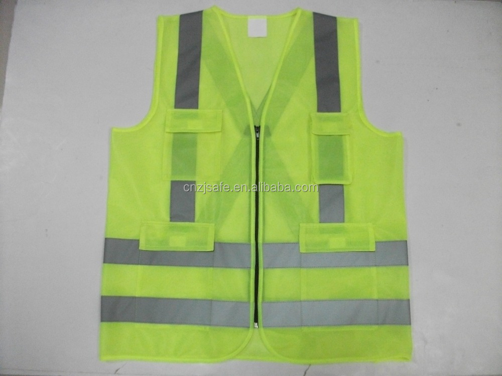 China Manufacturer High Visibility Chile Car First Aid Traffic Roadway Reflective Jacket