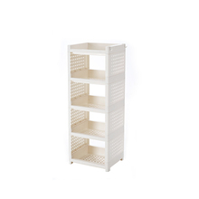 2019 Good 5 tiers plastic corner eco-friendly standing type storage <strong>shelf</strong>