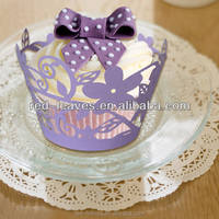 Wedding table decoration supplies personalized cupcake wrapper cake purple paper wrapper in guangzhou