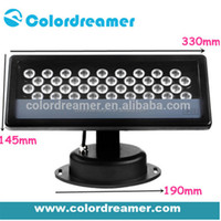 High quality dmx RGB flood light, madrix compatible DMX 512 control outdoor led flood light