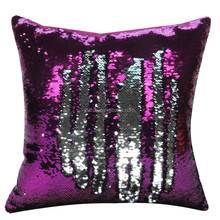 Reversible Mermaid Sequin Pillow sofa cushion color changing pillow cover