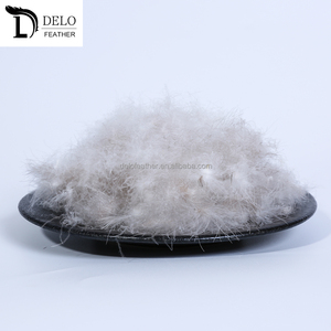 2-4CM Raw Grey Duck Down Feather for Sale