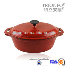 TRIONFO oval pre-seasoned cast iron cookware enamelled cast iron pot wholesale