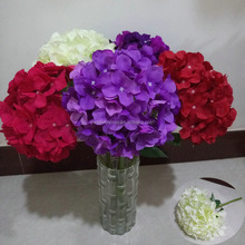 Wholesale silk artificial flowers hydrangea white for wedding decoration