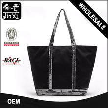 Fashion custom sequins canvas tote bag canvas wholesale tote bags
