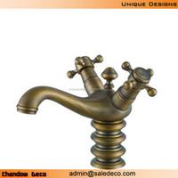 A193 Brass faucet mixer dual handle tap one hole single basin faucet