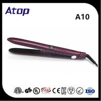 LED Display Hair Straightener And Curler With PTC Heater