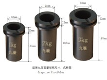 JC Graphite Crucible for Melting Gold Silver Metal