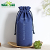 Promotional wine gift bags round bottom colored canvas drawstring bag canvas pouch