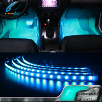 "12 volt led strip lighting bar 12"" 30cm x4 rgb color changing footwell light music remote control"