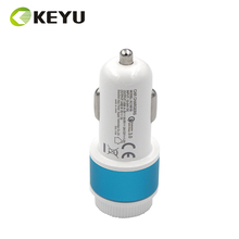 5v1A and 5v3A9V2A12V1.5A dual usb port bullet mini car charger