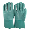 NMSAFETY anti-oil green Excellent quality long sleeve PVC coated hand safety gloves