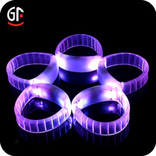 Party Store Favor DMX512 Lighted Wristband 2 in 1 Function Bluetooth