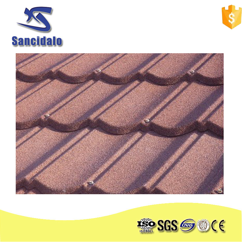 High-strength wave type corrugated steel roofing sheet roof tile