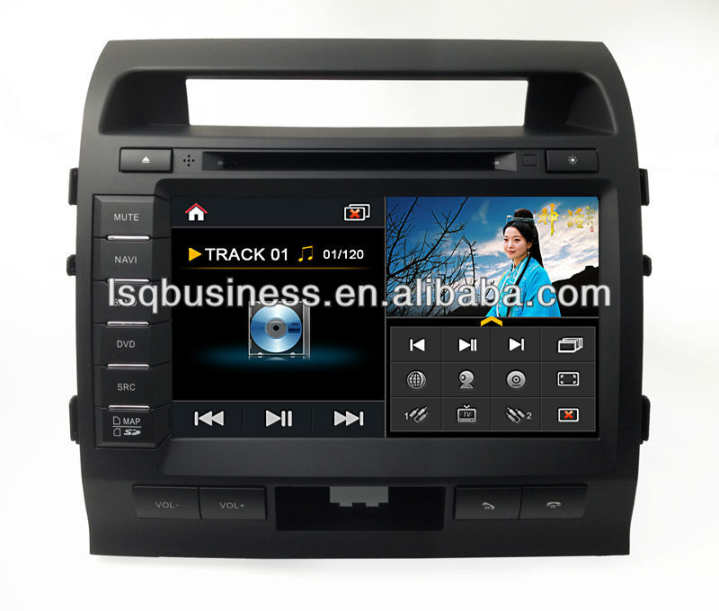 LSQ Star S100 Platform Car DVD For Toyata Landcruiser With Autoradio GPS Navigation A8 chipest, 20cdc, POP