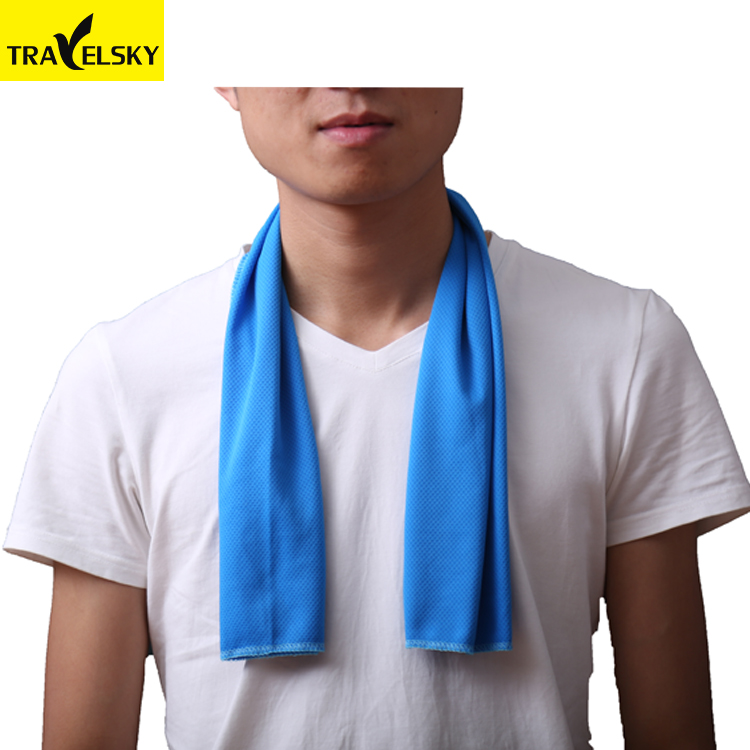 Travelsky Custom wholesale summer beach sport ice cooling towel with logo