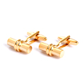 Hot selling gold cylinder cufflinks