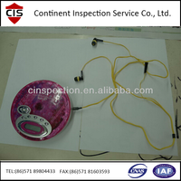 CD player/CD drive 100% inspection service/ third party inspection company For Importers And Supermarket