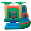 pool inflatable combo bouncer and water slide