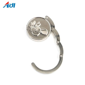 Wholesale custom bag handbag holders hook hanger with your own logo