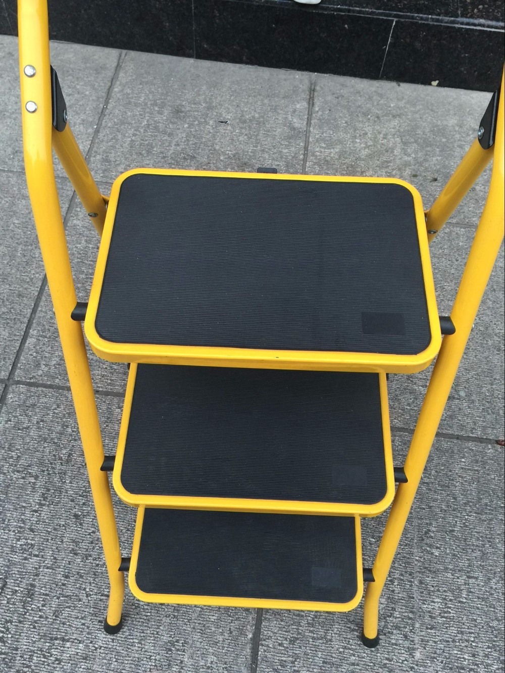 Colorful Design Folding Portable Steps With Handrail Steel