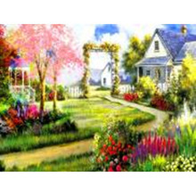 Canvas Support Base and Watercolor Medium 5d diamond painting crystal rhinestone scenery pictures