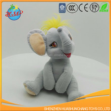 customize sitting plush elephant toy new design stuffed elephant soft toy for promotion