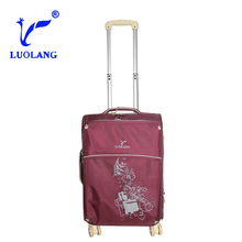 Nylon colour-matched Accessories with real button leisure Travelmate luggage trolley bag