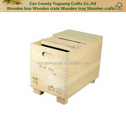 2016 New design Heze Yuguang Craft accept custom large wooden rice box wood food storage boxes