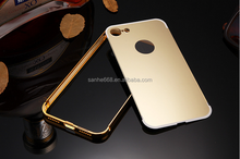 bling metal bumper+pc smart case cover for lg fashion clear mirror aluminum case for iPhone 5