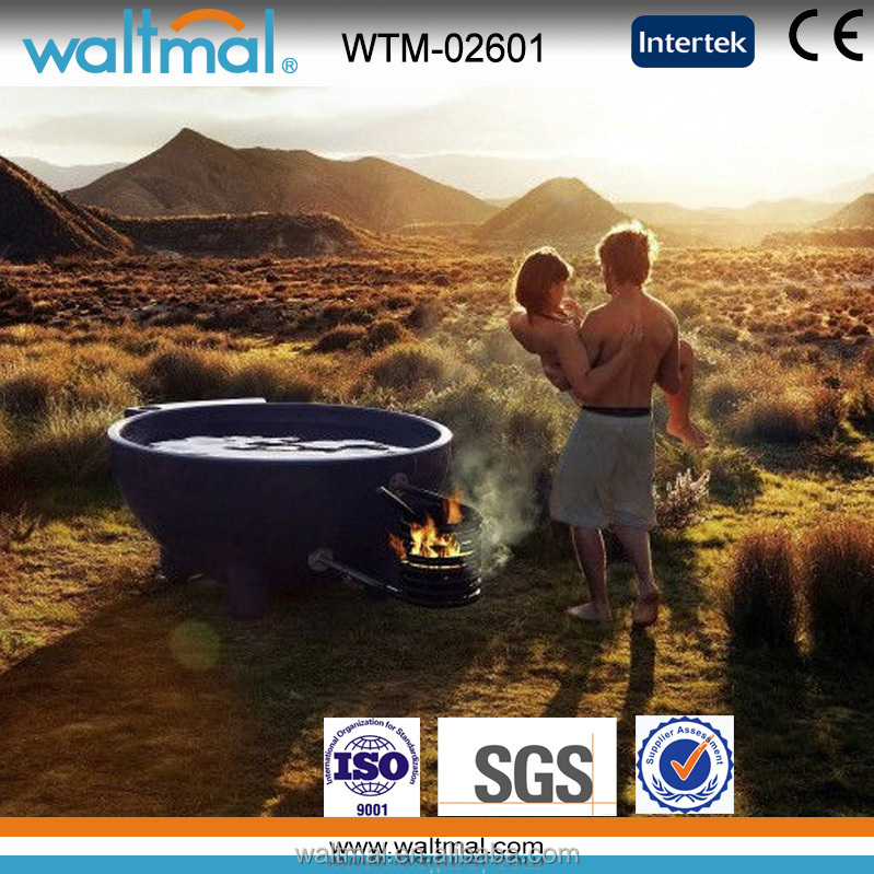 2 or 3 person Outdoor hot SPA outdoor bathtub, wood fired hot tub