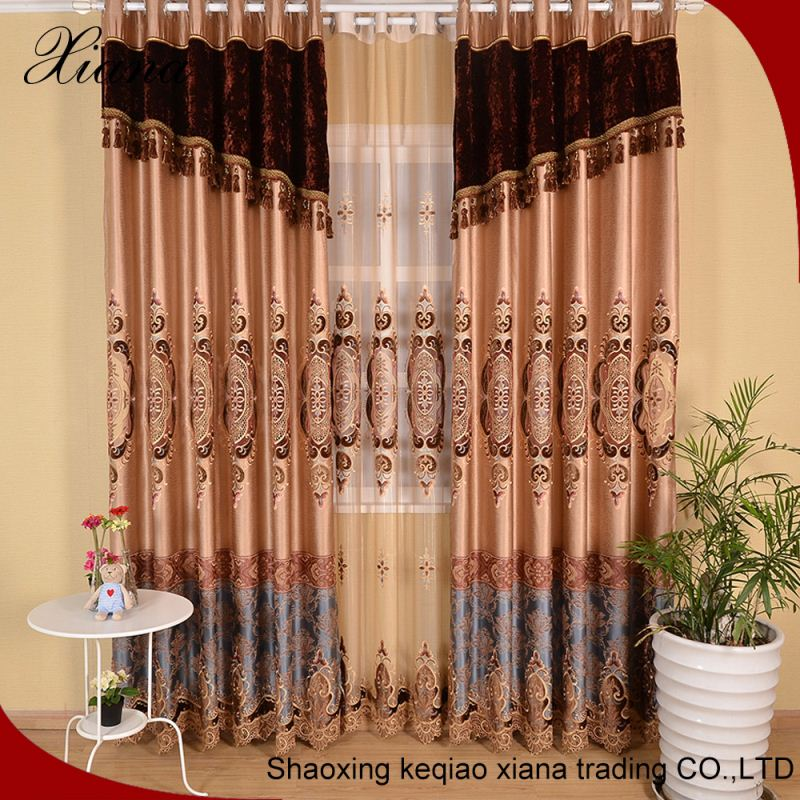 Romantic container home polyester embroidered voile sheer curtains for drapery fabric