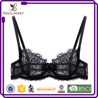 Best Design Ultimate Spandex Polyester Nylon Lace Sexy Half Cup Bras