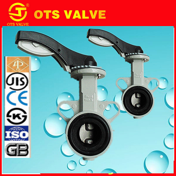 BV-DS059 API/CE no pin wafer type aluminum alloy butterfly valve