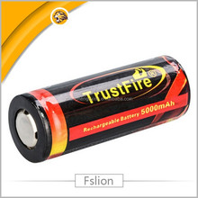 TrustFire 26650 3.7V 5000mah lithium polymer li-ion rechargeable batteries with PCB from original factory for e-bike