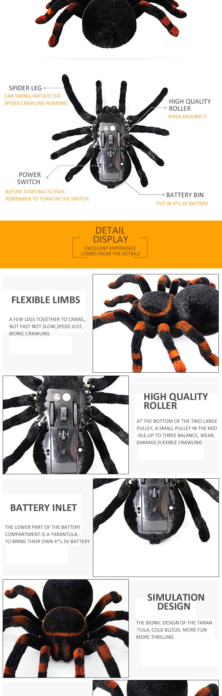 2016 Hot Toys Hobbies RC Spider Toys