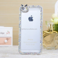 Cute Bow Bling Diamond Rhinestone Shine Clear Hard Case Cover For IPHONE 4 4S 5 5S