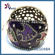 jewelry wholesale jewelry in malaysia alloy punk enamel crystal bangle