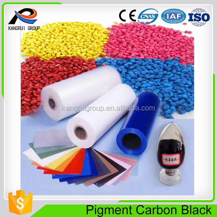 Strong coloring pigment carbon black