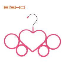 Eisho Hot Selling Decorative Pink PVC Coated Clothes Hanger