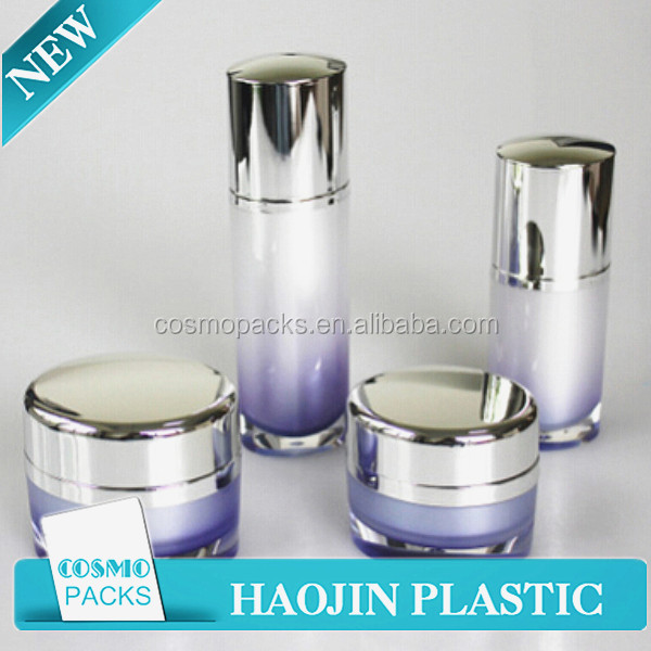 luxury skin care containers jar 50 ml plastic acrylic